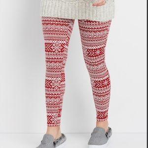 Maurices Snowflake Print Hacci Legging